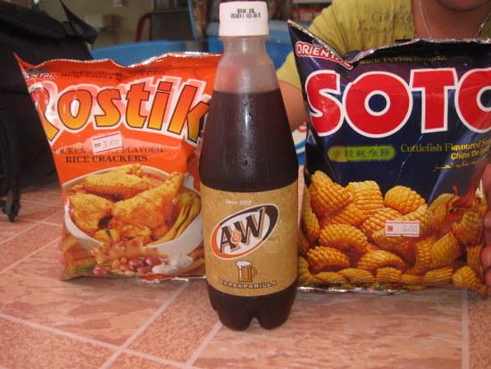 Sarsaparrilla y snacks de sabores extraterrestres.jpg
